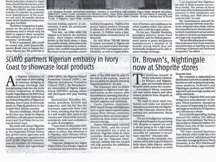 Dr. Brown's Nightingale now at Shoprite stores