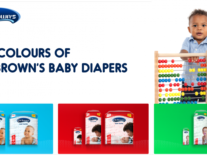 THE COLOURS OF DR. BROWN'S BABY DIAPERS!