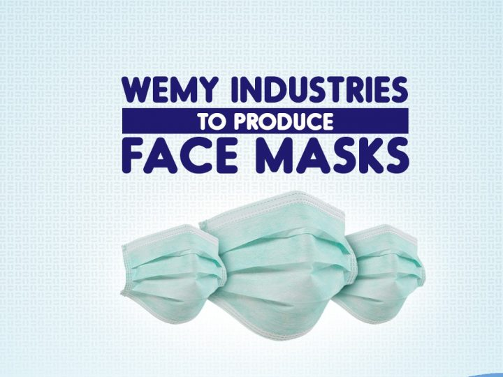 WEMY INDUSTRIES TO PRODUCE FACE MASKS